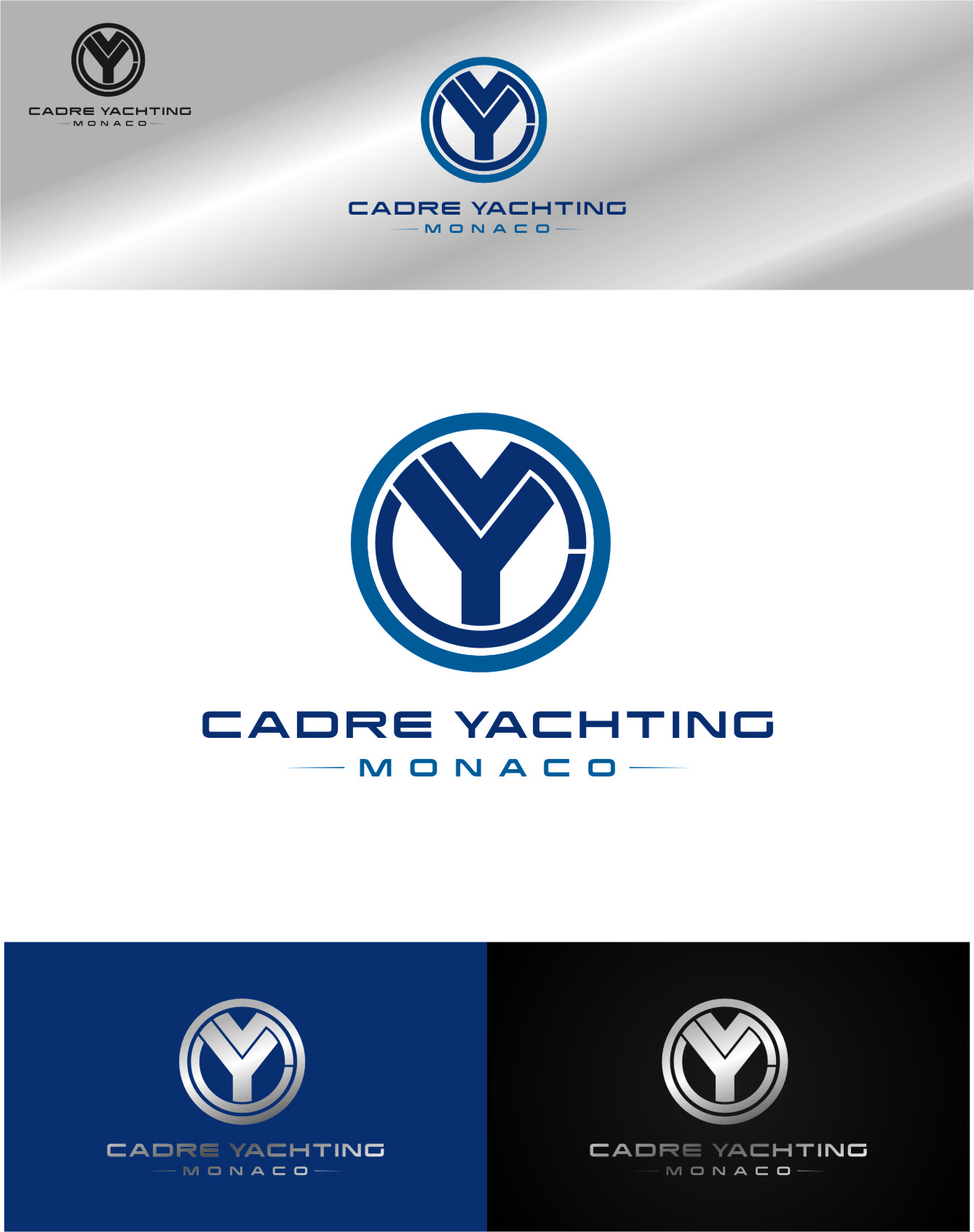 Logo Design by RasYa Muhammad Athaya - Entry No. 412 in the Logo Design Contest New Logo Design for Cadre Yachting Monaco.