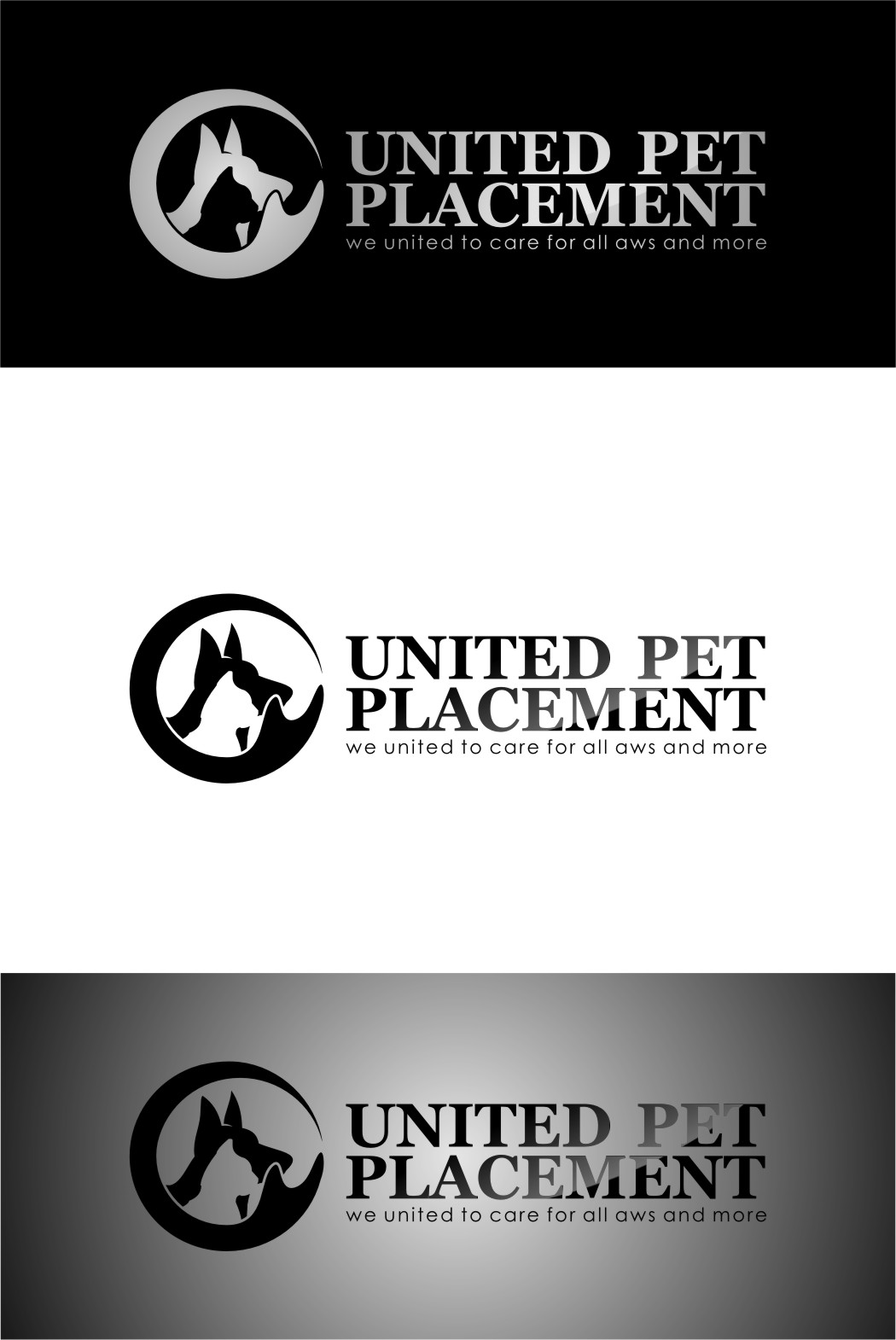 Logo Design by RasYa Muhammad Athaya - Entry No. 27 in the Logo Design Contest Artistic Logo Design for united pet placement.
