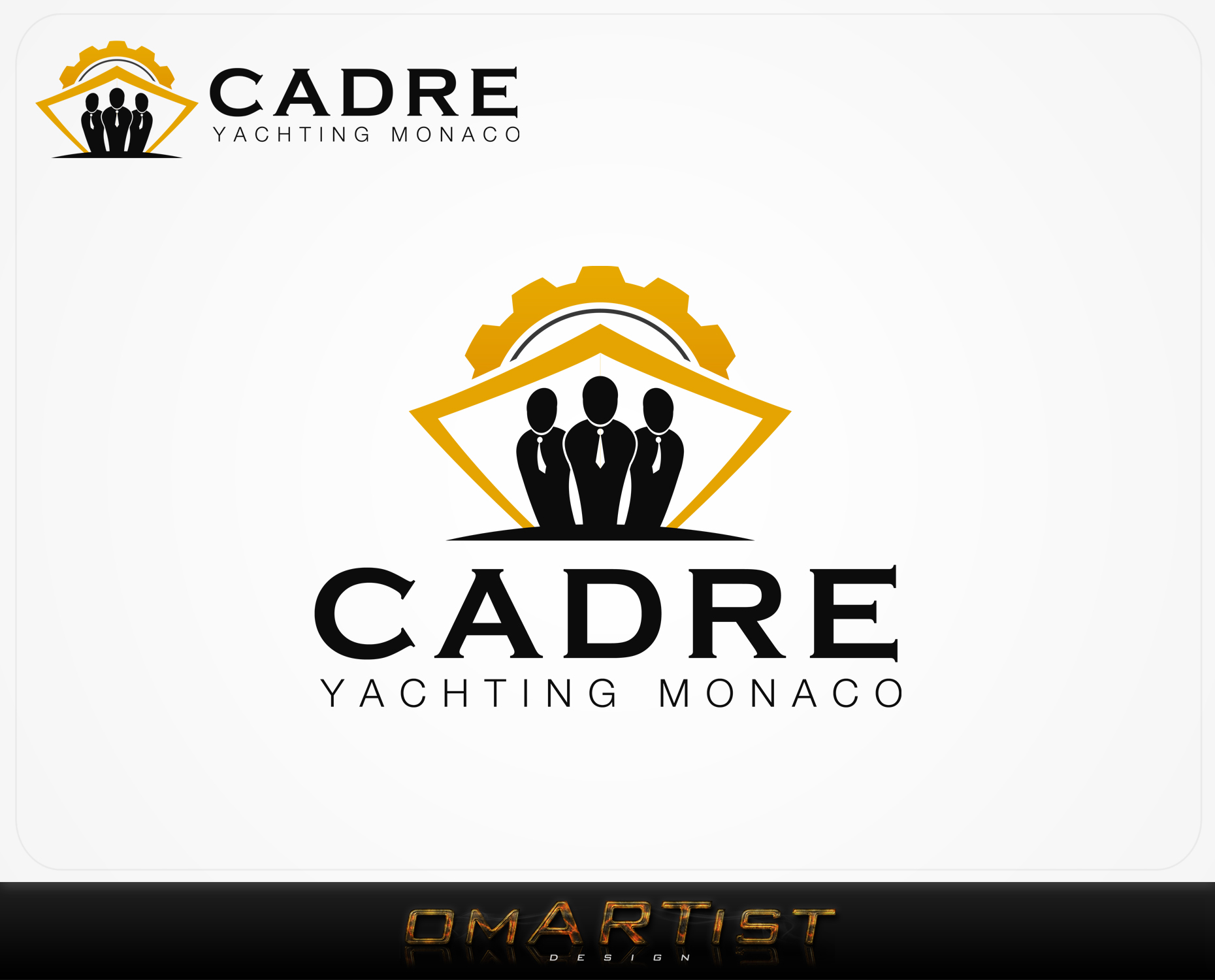 Logo Design by omARTist - Entry No. 413 in the Logo Design Contest New Logo Design for Cadre Yachting Monaco.