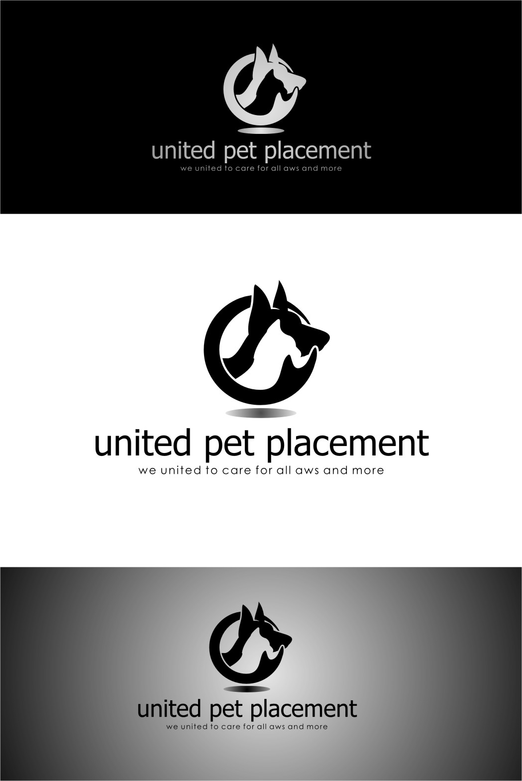 Logo Design by RasYa Muhammad Athaya - Entry No. 29 in the Logo Design Contest Artistic Logo Design for united pet placement.