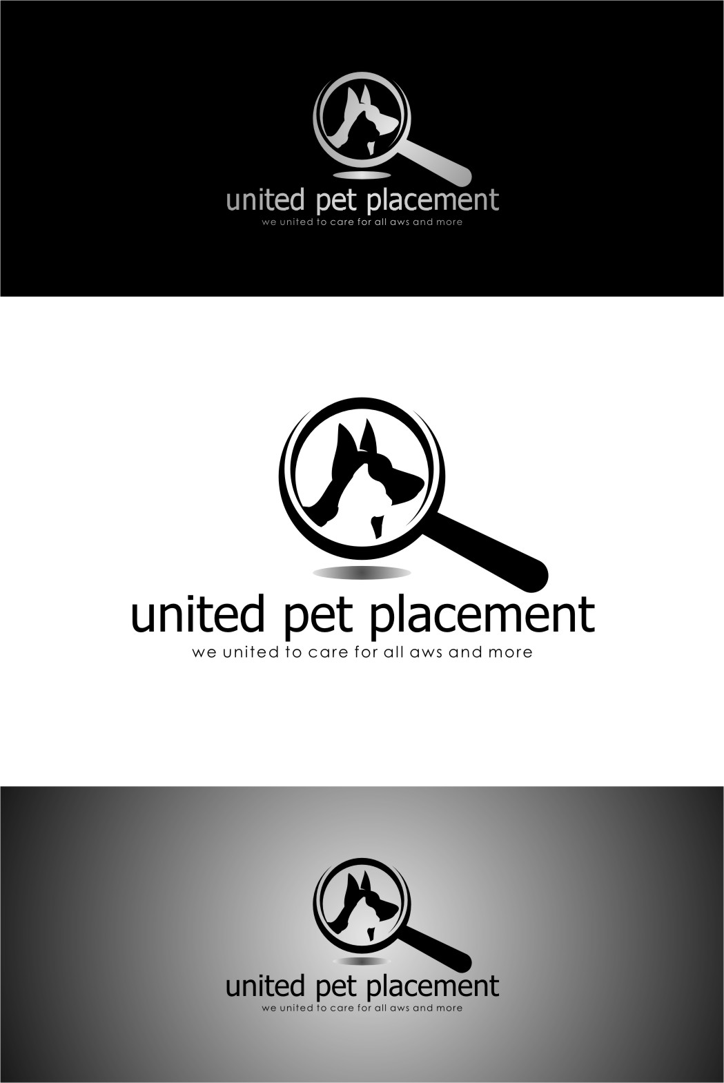 Logo Design by RasYa Muhammad Athaya - Entry No. 30 in the Logo Design Contest Artistic Logo Design for united pet placement.