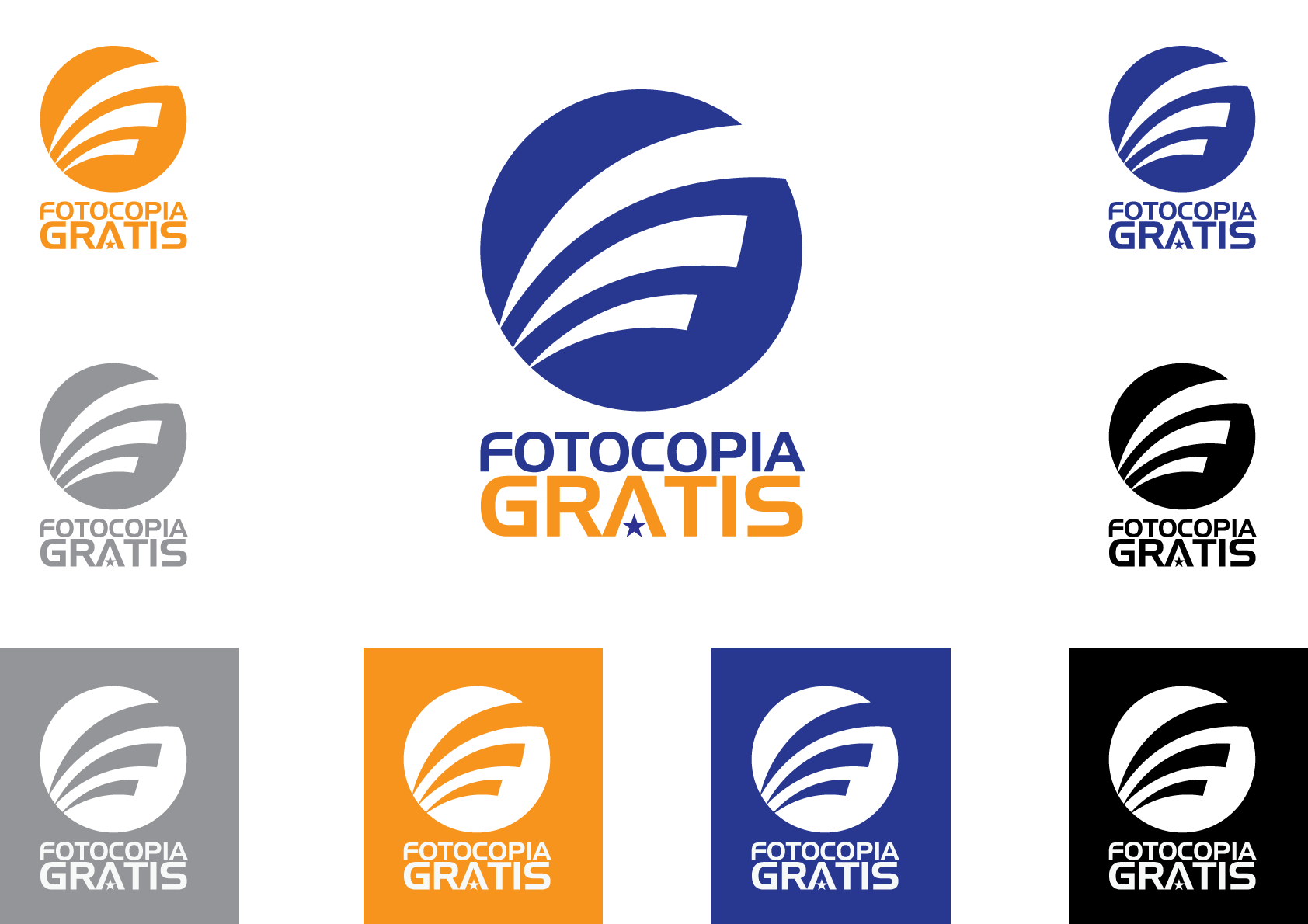 Logo Design by Severiano Fernandes - Entry No. 235 in the Logo Design Contest Inspiring Logo Design for Fotocopiagratis.