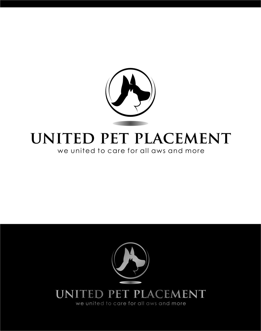 Logo Design by RasYa Muhammad Athaya - Entry No. 33 in the Logo Design Contest Artistic Logo Design for united pet placement.