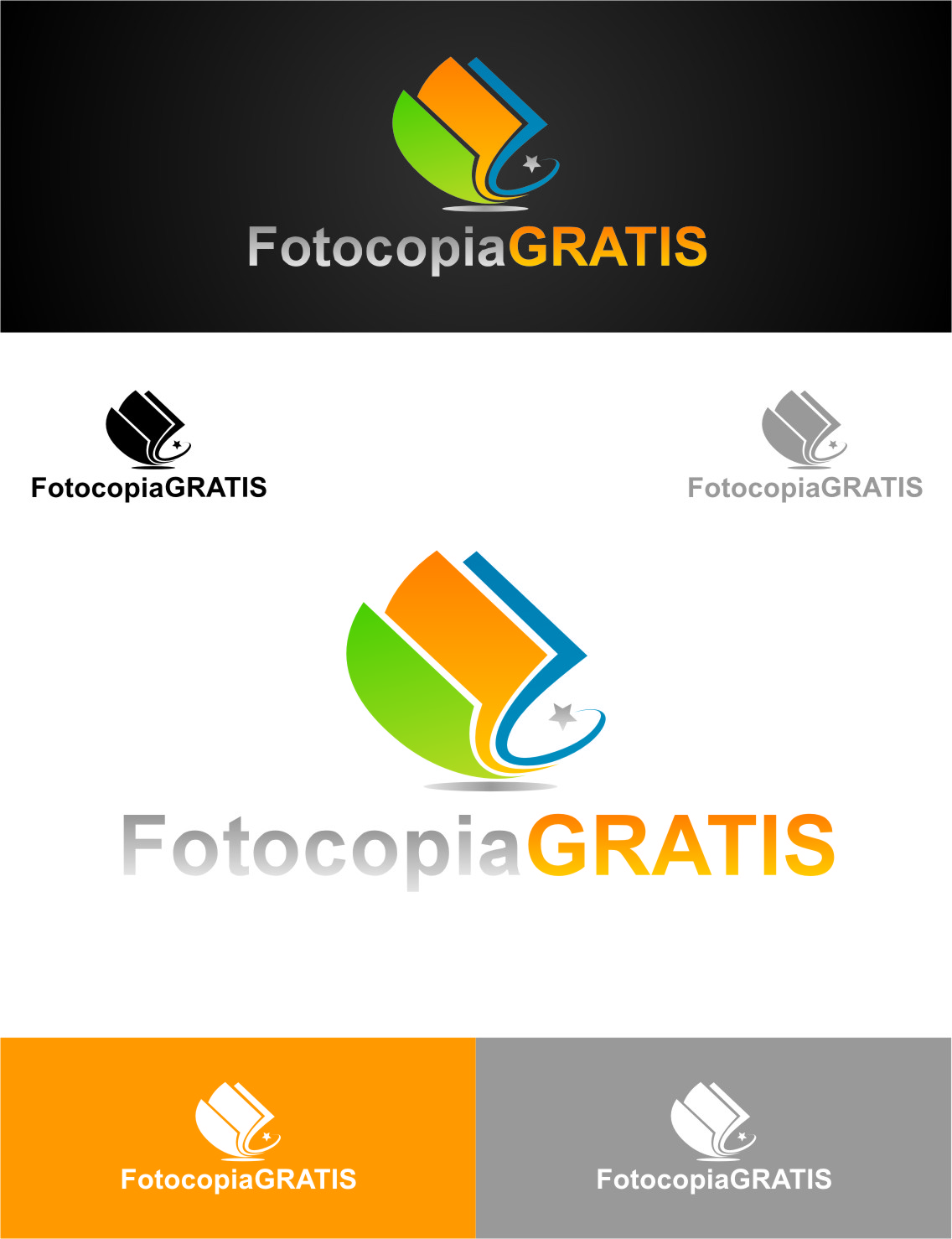 Logo Design by RoSyid Rono-Rene On Java - Entry No. 240 in the Logo Design Contest Inspiring Logo Design for Fotocopiagratis.
