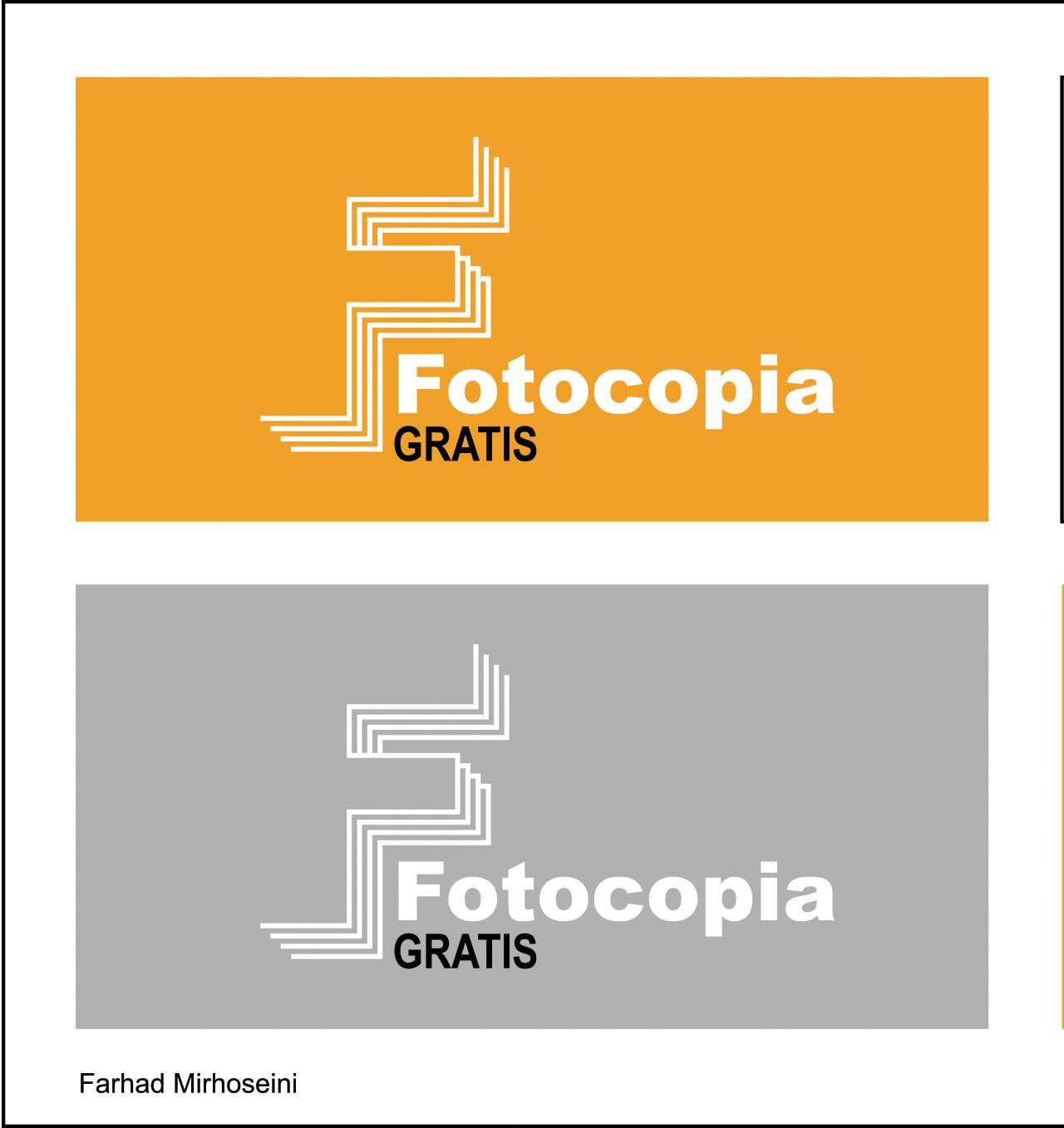 Logo Design by Farhad Mirhoseini - Entry No. 241 in the Logo Design Contest Inspiring Logo Design for Fotocopiagratis.