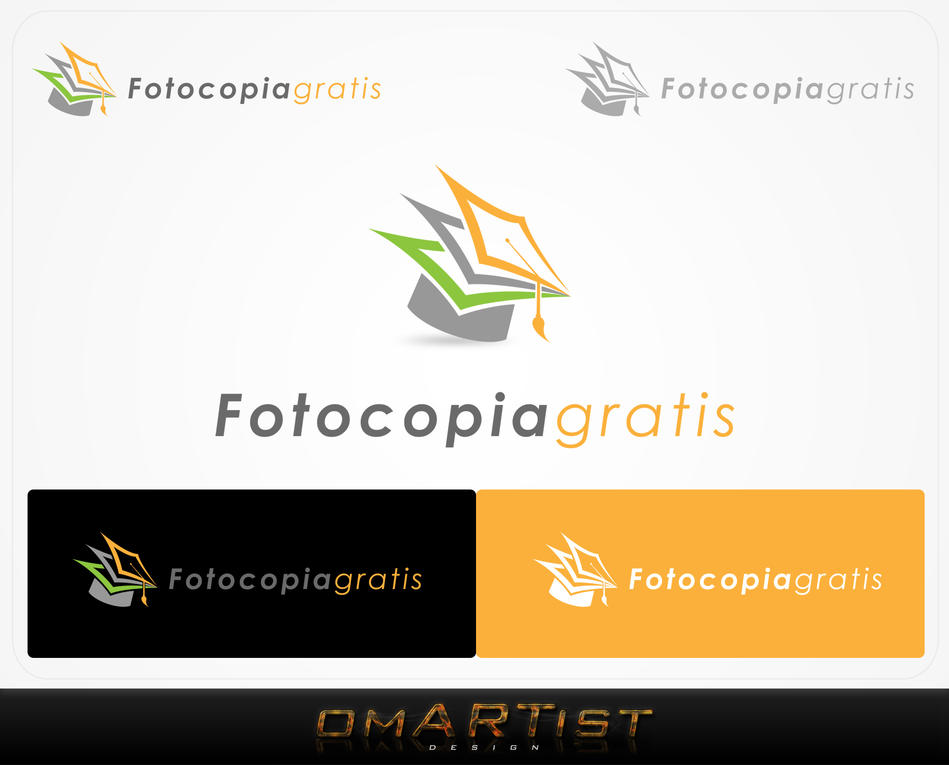 Logo Design by omARTist - Entry No. 251 in the Logo Design Contest Inspiring Logo Design for Fotocopiagratis.