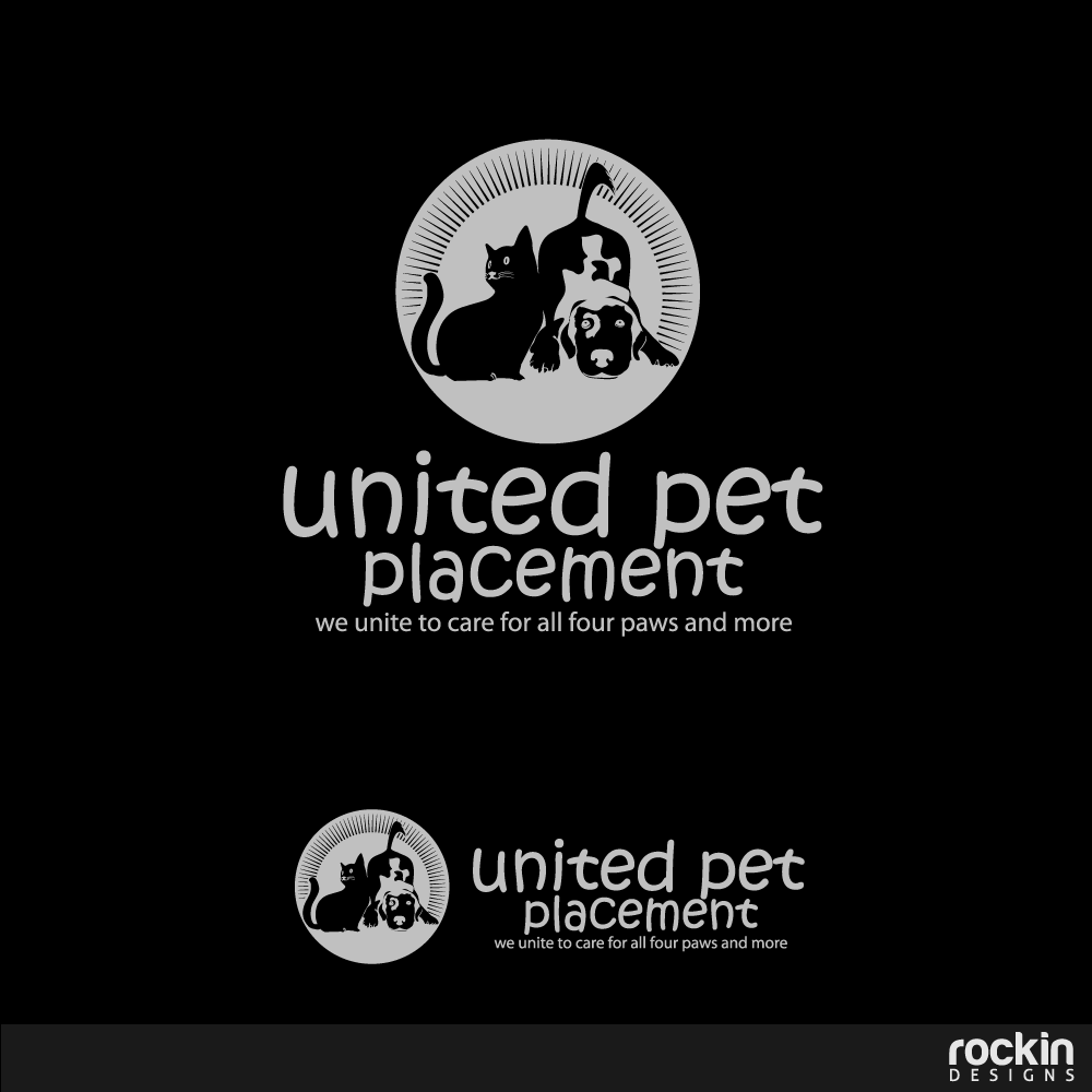 Logo Design by rockin - Entry No. 41 in the Logo Design Contest Artistic Logo Design for united pet placement.