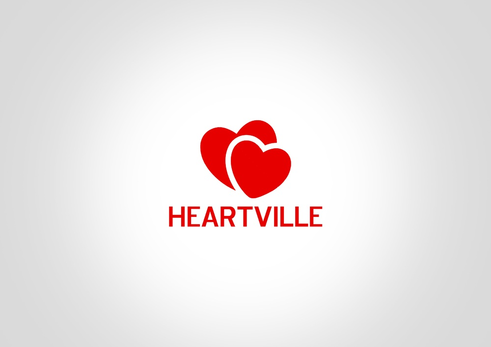 Logo Design by Respati Himawan - Entry No. 21 in the Logo Design Contest Unique Logo Design Wanted for Heartsville.