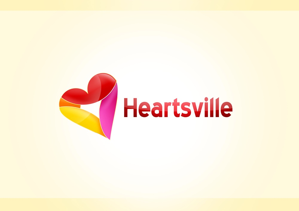 Logo Design by Respati Himawan - Entry No. 22 in the Logo Design Contest Unique Logo Design Wanted for Heartsville.