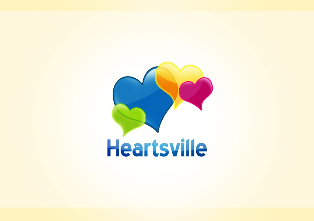 Logo Design by Respati Himawan - Entry No. 23 in the Logo Design Contest Unique Logo Design Wanted for Heartsville.