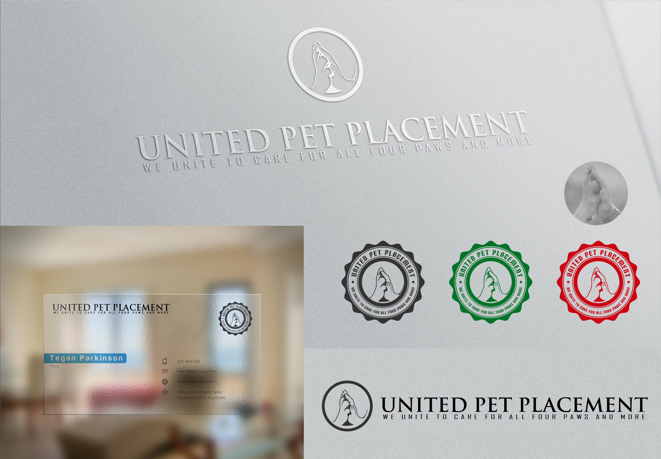 Logo Design by olii - Entry No. 45 in the Logo Design Contest Artistic Logo Design for united pet placement.