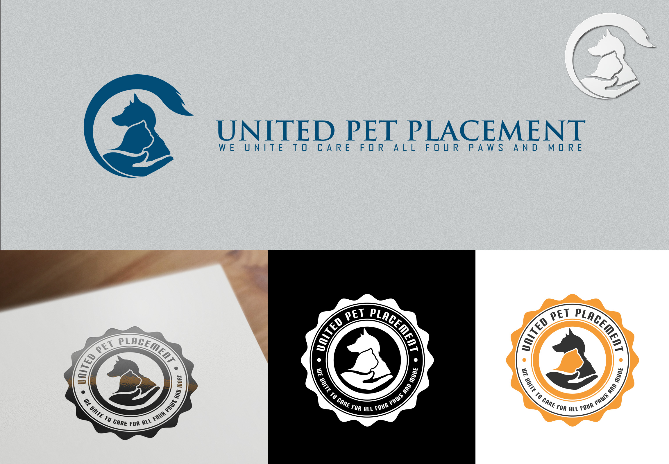Logo Design by olii - Entry No. 46 in the Logo Design Contest Artistic Logo Design for united pet placement.