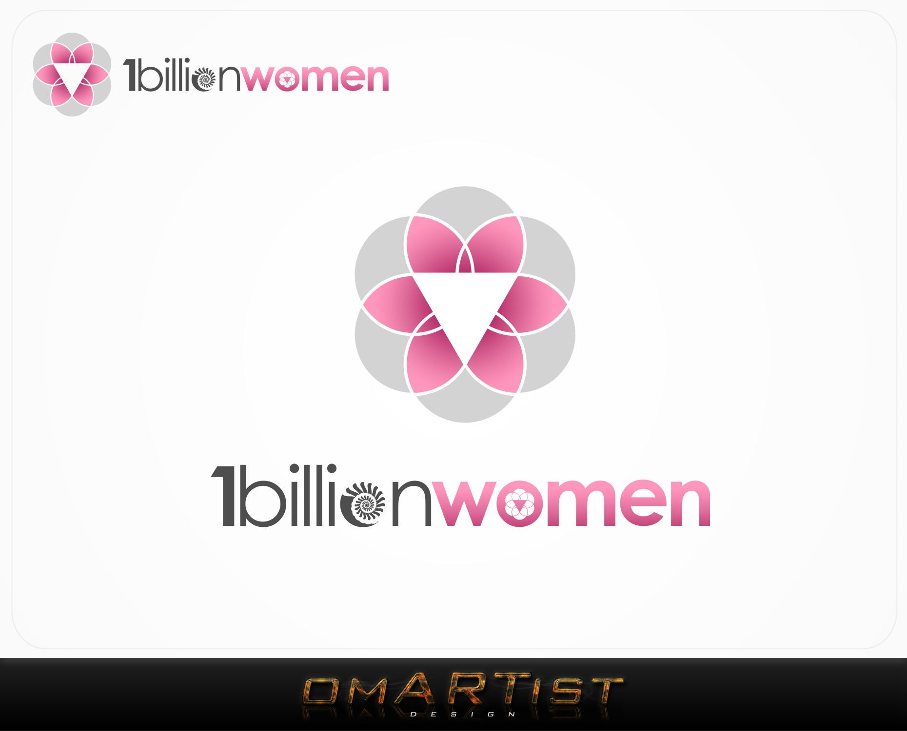 Logo Design by omARTist - Entry No. 106 in the Logo Design Contest Fun Logo Design for 1BillionWomen.