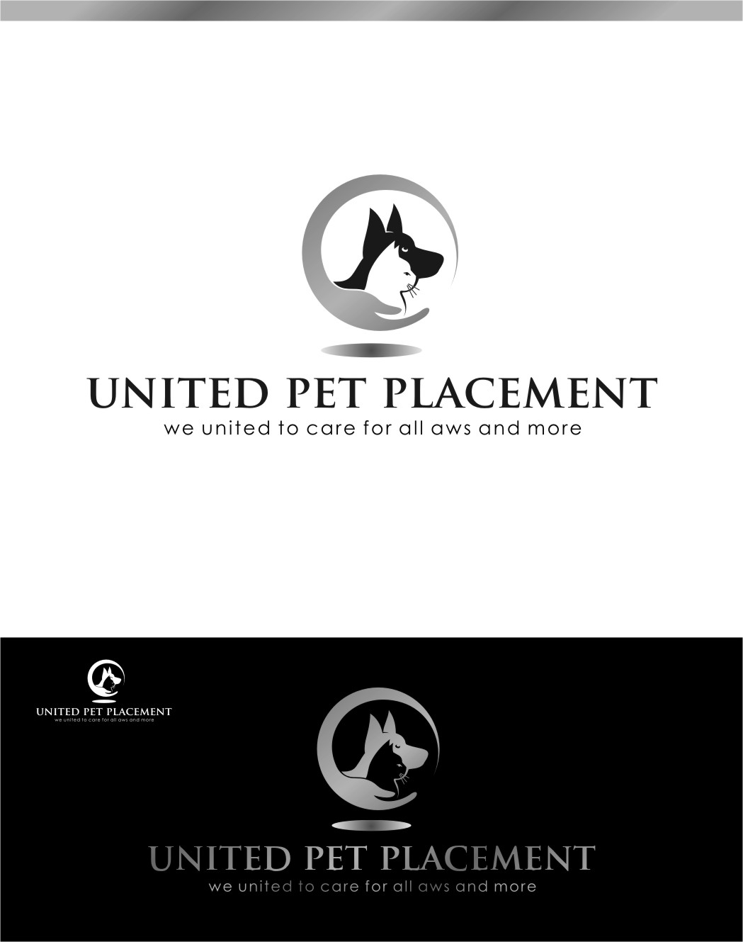 Logo Design by RasYa Muhammad Athaya - Entry No. 50 in the Logo Design Contest Artistic Logo Design for united pet placement.