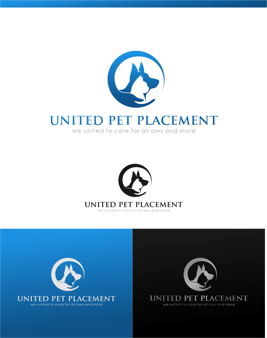 Logo Design by RasYa Muhammad Athaya - Entry No. 51 in the Logo Design Contest Artistic Logo Design for united pet placement.