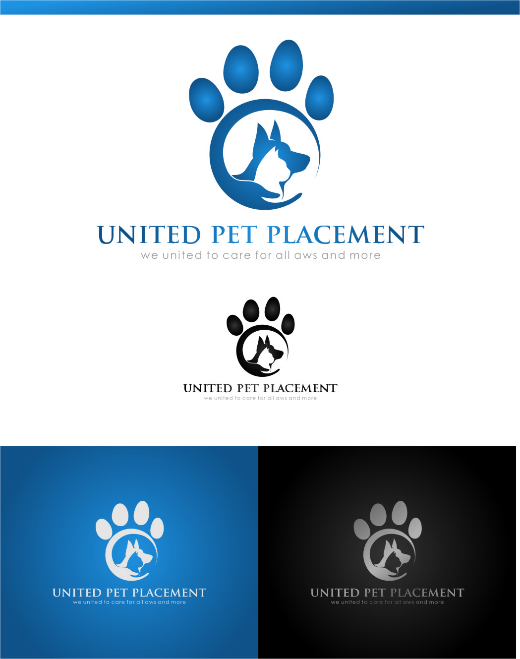 Logo Design by RasYa Muhammad Athaya - Entry No. 52 in the Logo Design Contest Artistic Logo Design for united pet placement.