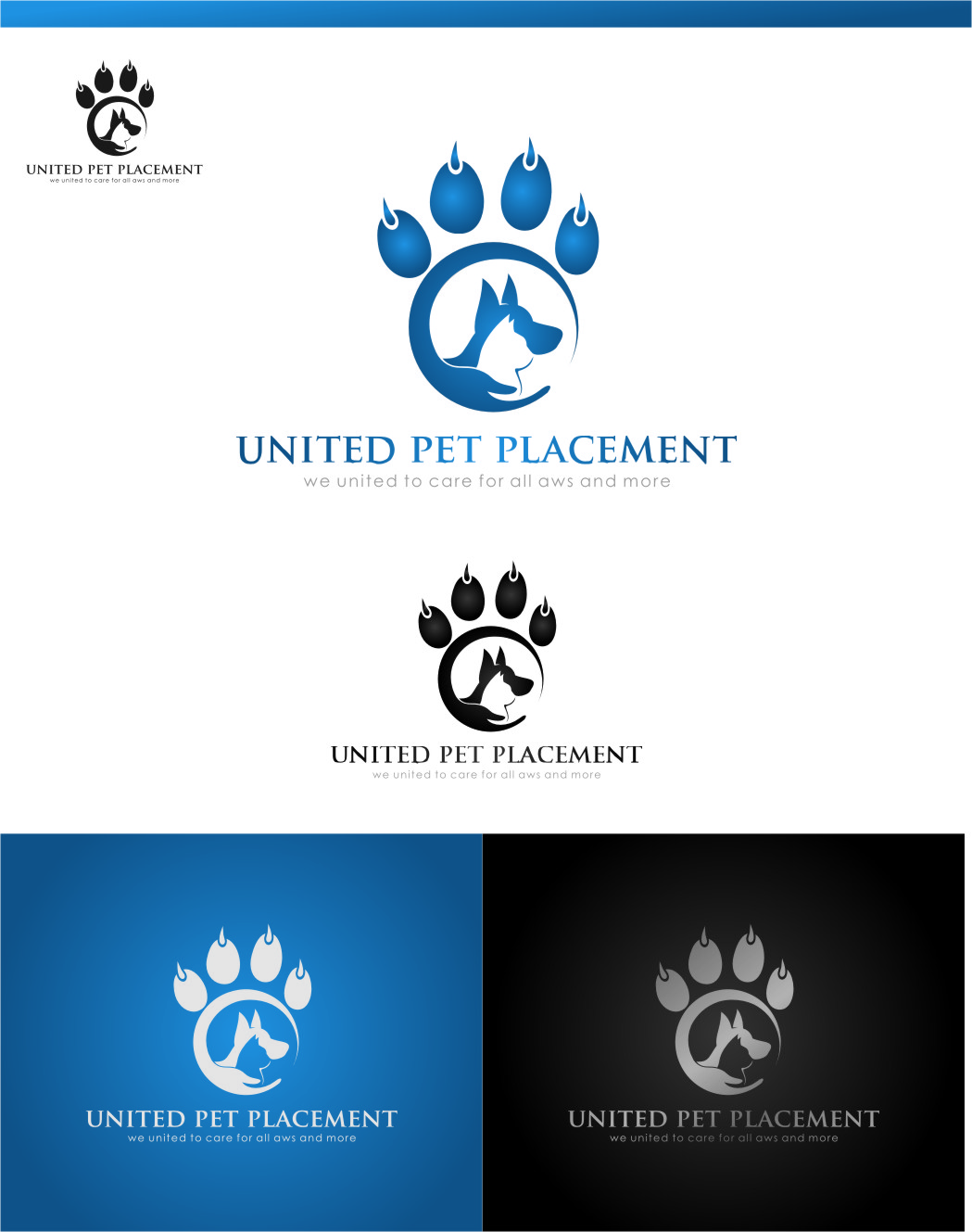 Logo Design by Ngepet_art - Entry No. 53 in the Logo Design Contest Artistic Logo Design for united pet placement.