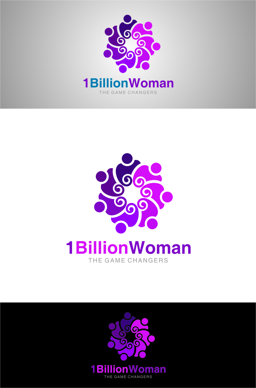Logo Design by RasYa Muhammad Athaya - Entry No. 115 in the Logo Design Contest Fun Logo Design for 1BillionWomen.