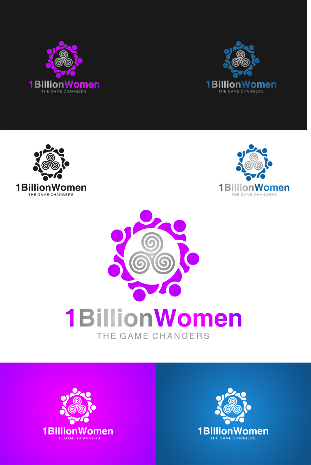 Logo Design by RoSyid Rono-Rene On Java - Entry No. 117 in the Logo Design Contest Fun Logo Design for 1BillionWomen.