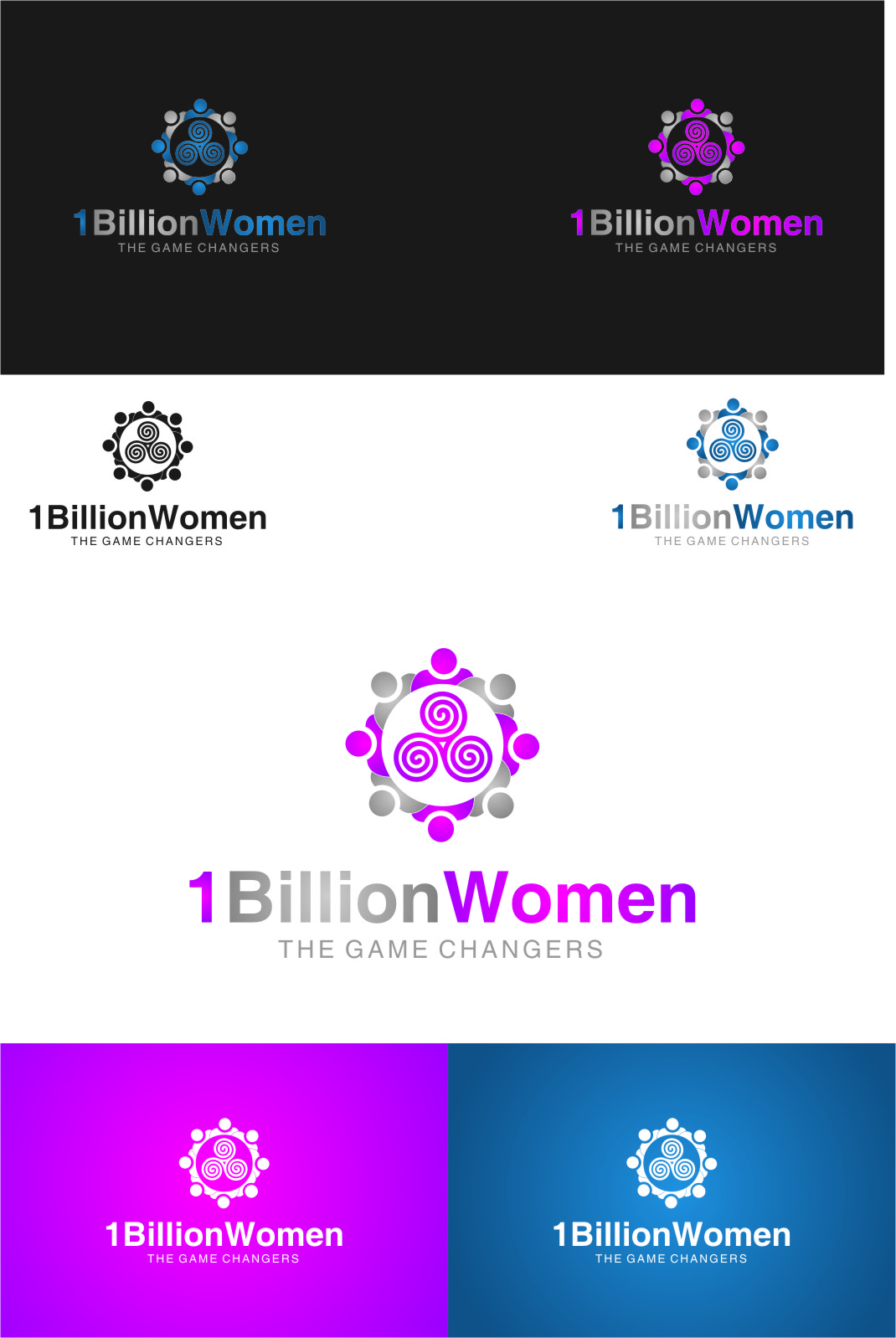 Logo Design by RoSyid Rono-Rene On Java - Entry No. 118 in the Logo Design Contest Fun Logo Design for 1BillionWomen.