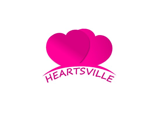 Logo Design by Ismail Adhi Wibowo - Entry No. 26 in the Logo Design Contest Unique Logo Design Wanted for Heartsville.
