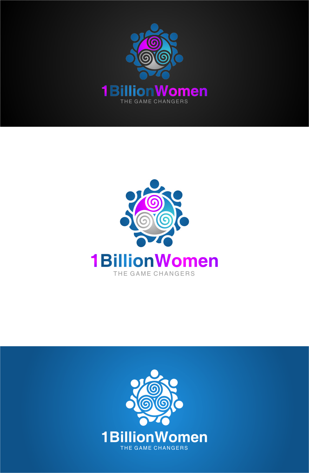 Logo Design by RasYa Muhammad Athaya - Entry No. 120 in the Logo Design Contest Fun Logo Design for 1BillionWomen.