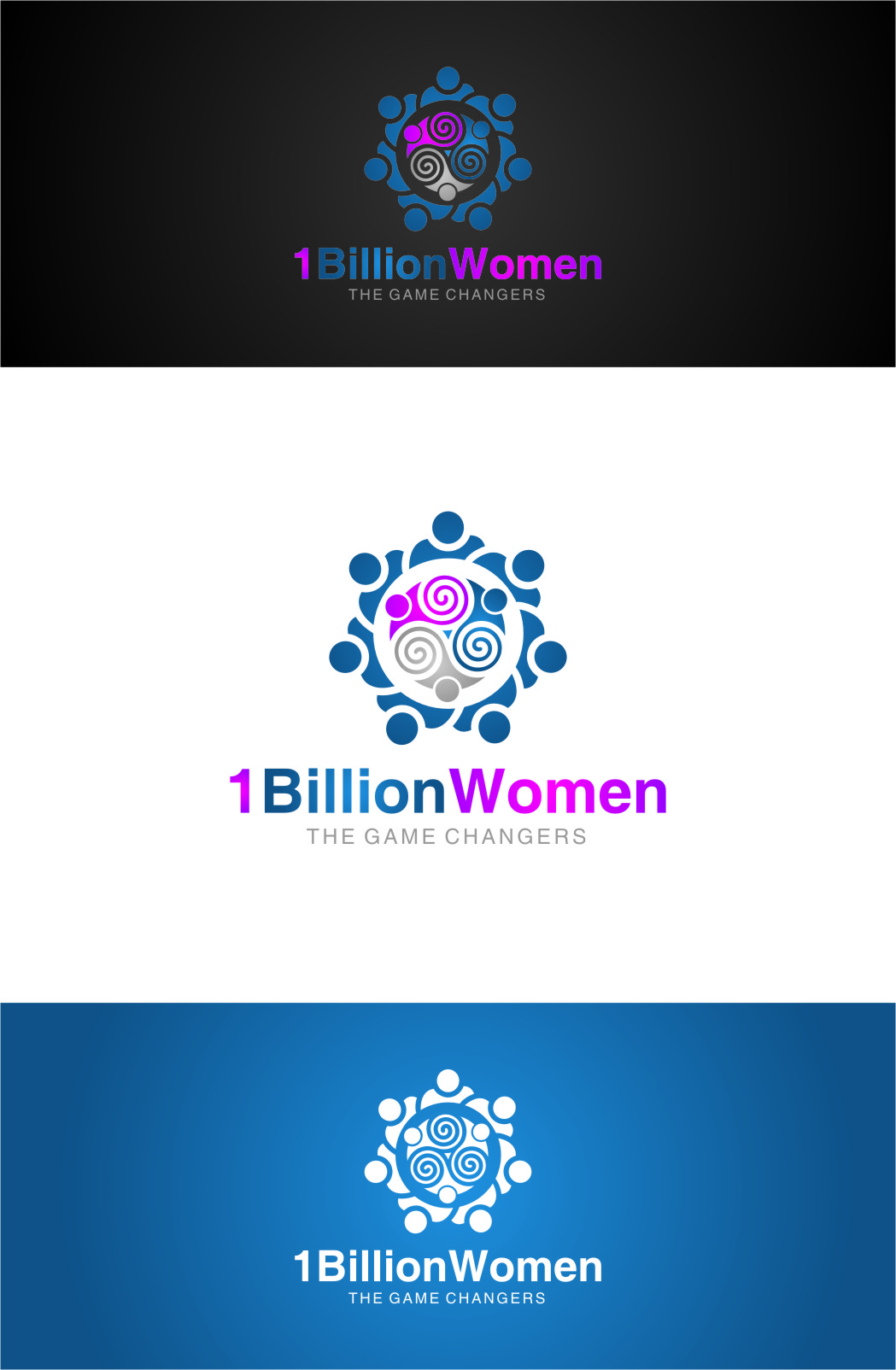 Logo Design by RasYa Muhammad Athaya - Entry No. 121 in the Logo Design Contest Fun Logo Design for 1BillionWomen.