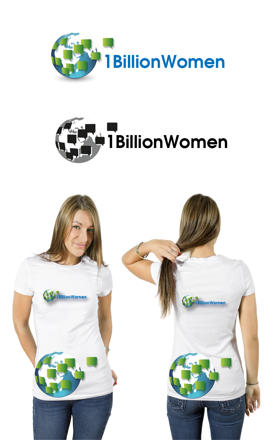 Logo Design by brands_in - Entry No. 125 in the Logo Design Contest Fun Logo Design for 1BillionWomen.