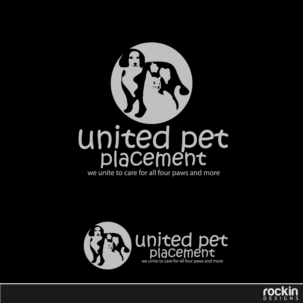 Logo Design by rockin - Entry No. 59 in the Logo Design Contest Artistic Logo Design for united pet placement.