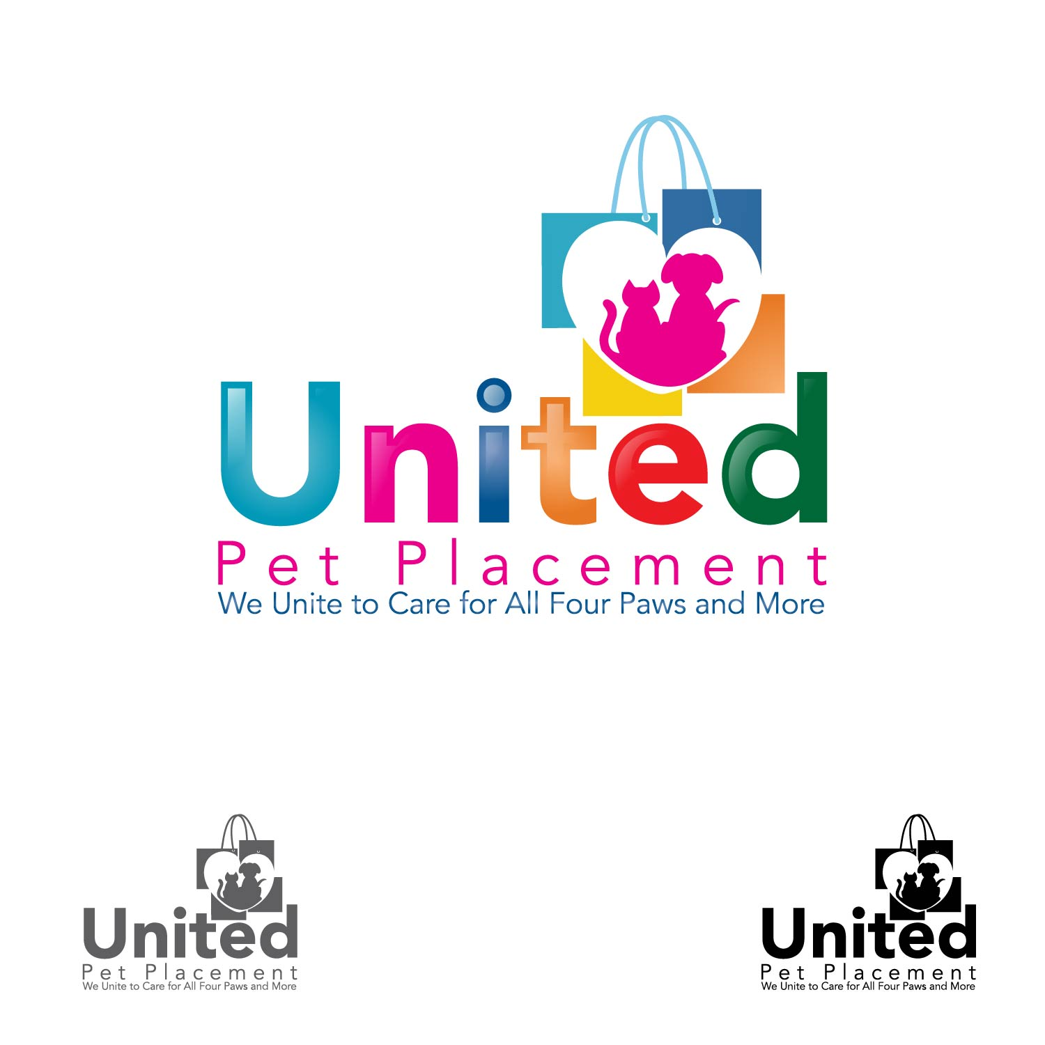 Logo Design by lagalag - Entry No. 60 in the Logo Design Contest Artistic Logo Design for united pet placement.