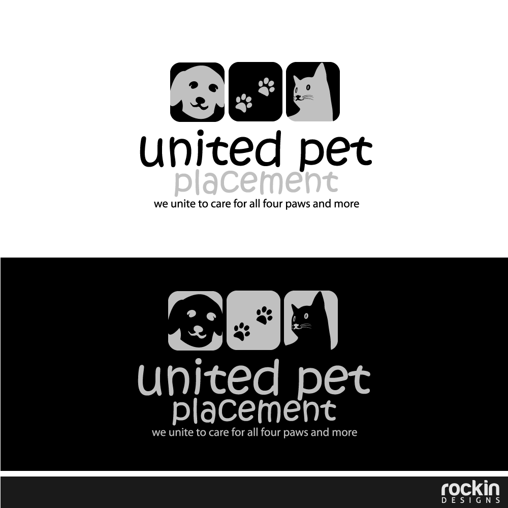 Logo Design by rockin - Entry No. 65 in the Logo Design Contest Artistic Logo Design for united pet placement.