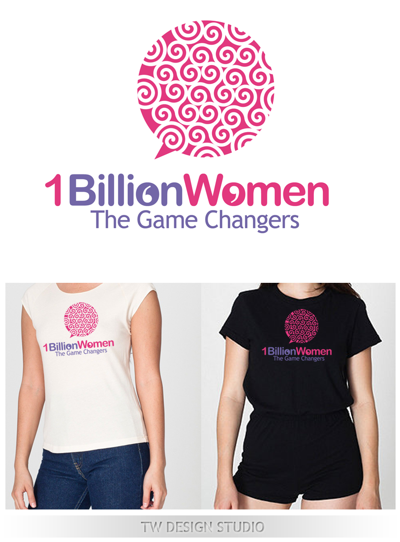Logo Design by Robert Turla - Entry No. 132 in the Logo Design Contest Fun Logo Design for 1BillionWomen.