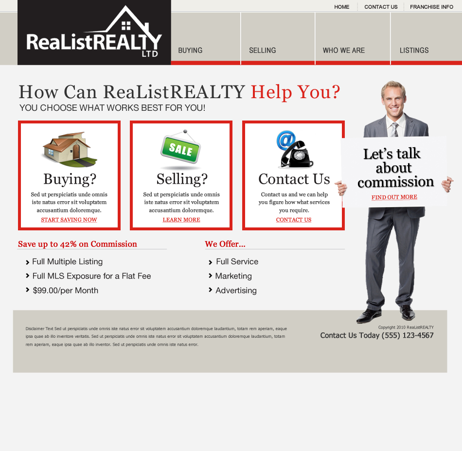 Web Page Design by wem24 - Entry No. 47 in the Web Page Design Contest Realist Realty International Ltd..