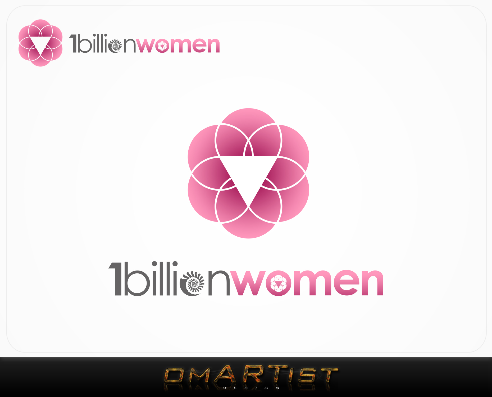 Logo Design by omARTist - Entry No. 145 in the Logo Design Contest Fun Logo Design for 1BillionWomen.