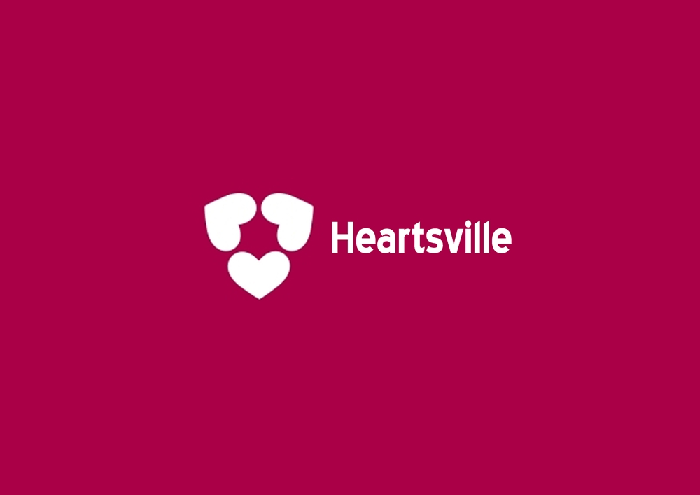 Logo Design by Respati Himawan - Entry No. 31 in the Logo Design Contest Unique Logo Design Wanted for Heartsville.