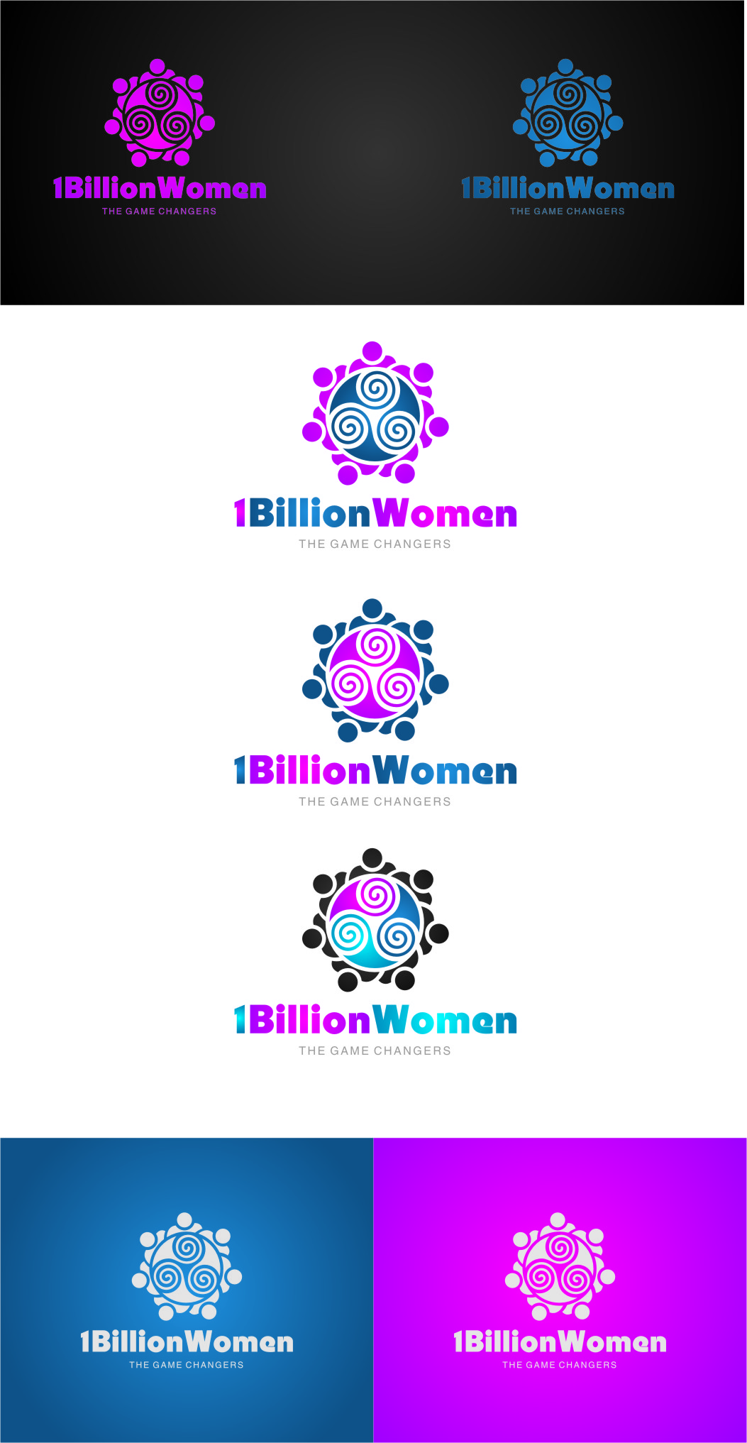 Logo Design by Ngepet_art - Entry No. 147 in the Logo Design Contest Fun Logo Design for 1BillionWomen.