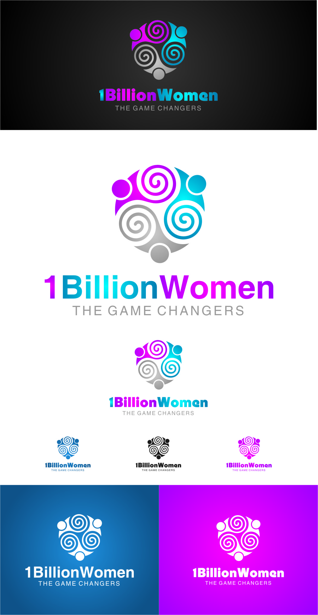 Logo Design by Ngepet_art - Entry No. 148 in the Logo Design Contest Fun Logo Design for 1BillionWomen.