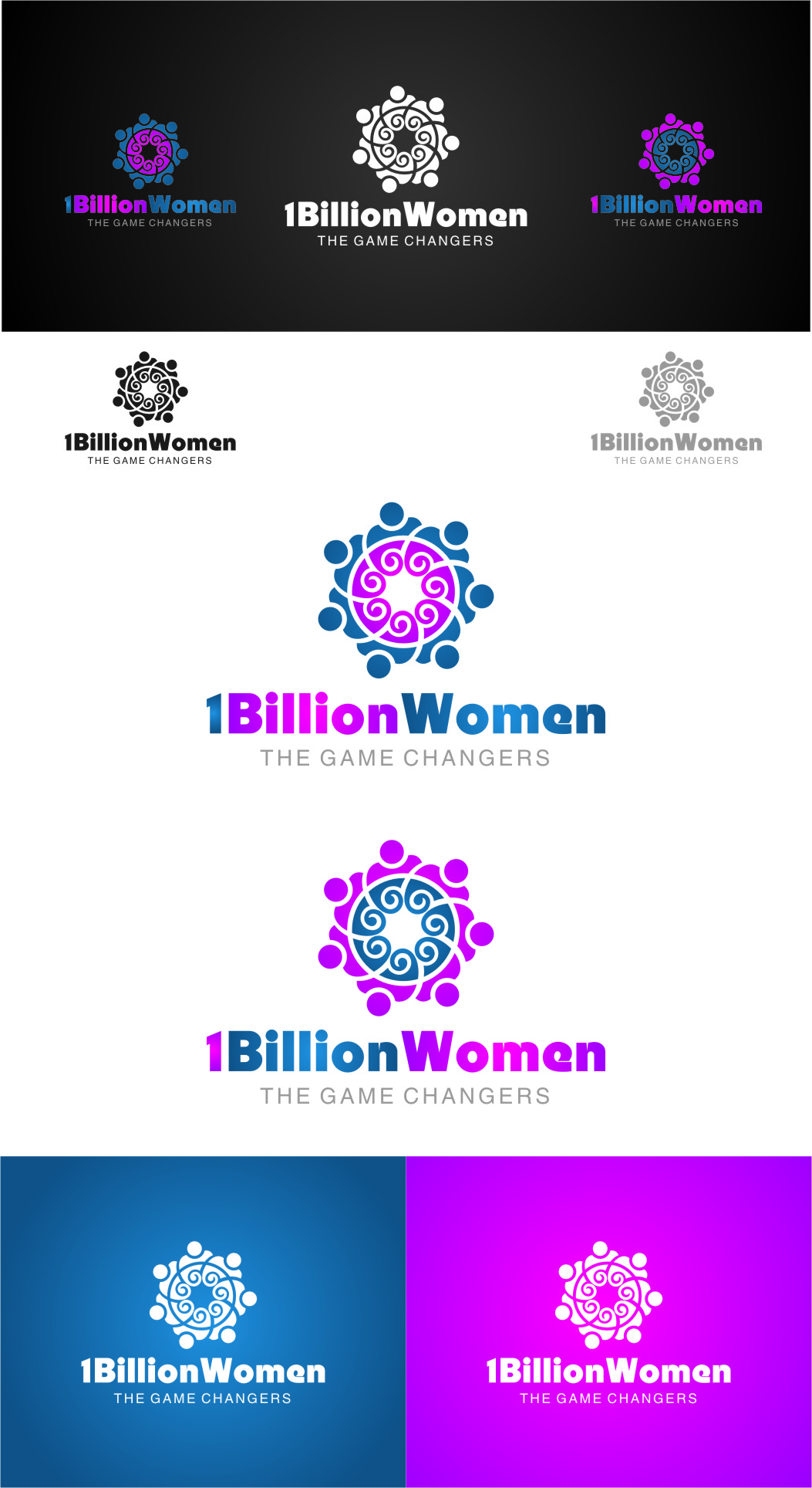 Logo Design by RasYa Muhammad Athaya - Entry No. 150 in the Logo Design Contest Fun Logo Design for 1BillionWomen.