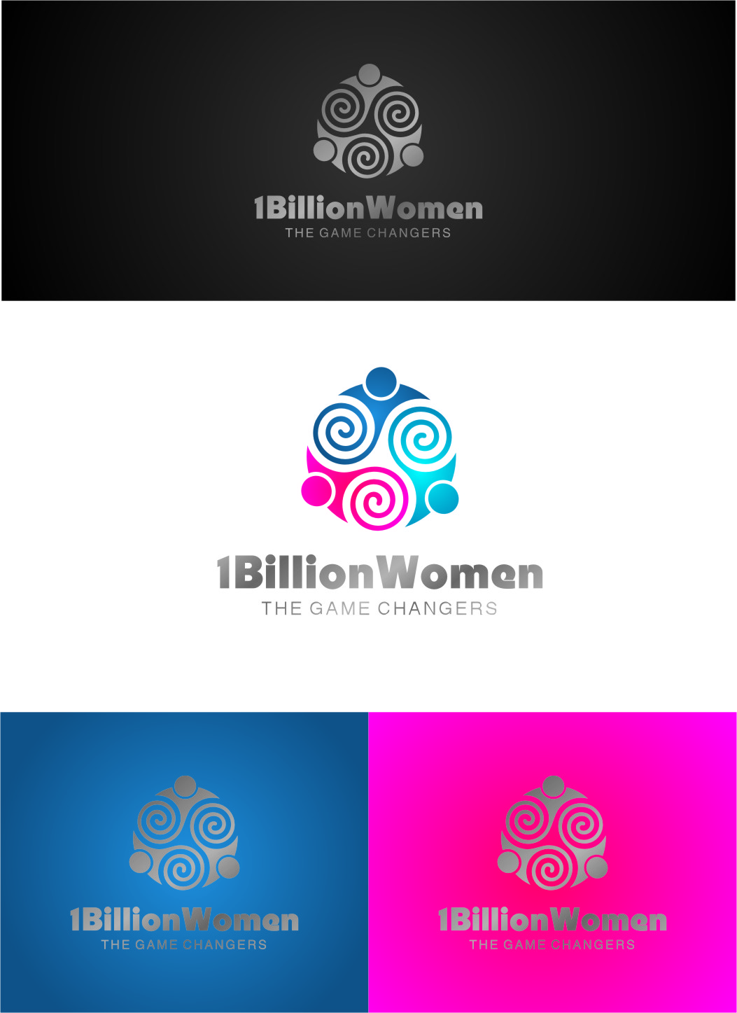 Logo Design by RasYa Muhammad Athaya - Entry No. 151 in the Logo Design Contest Fun Logo Design for 1BillionWomen.