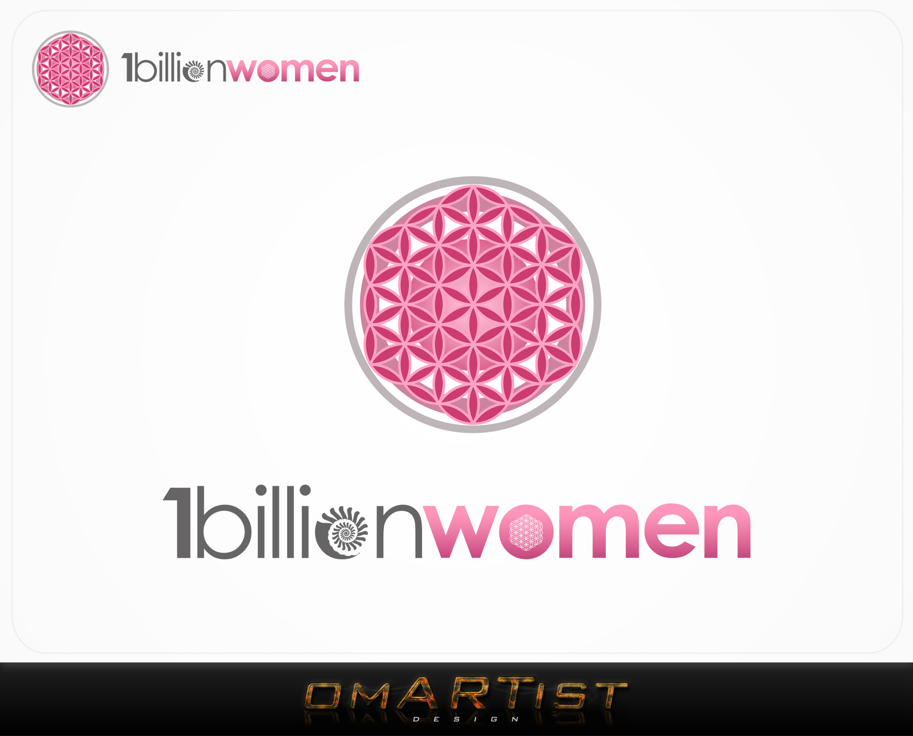Logo Design by omARTist - Entry No. 152 in the Logo Design Contest Fun Logo Design for 1BillionWomen.