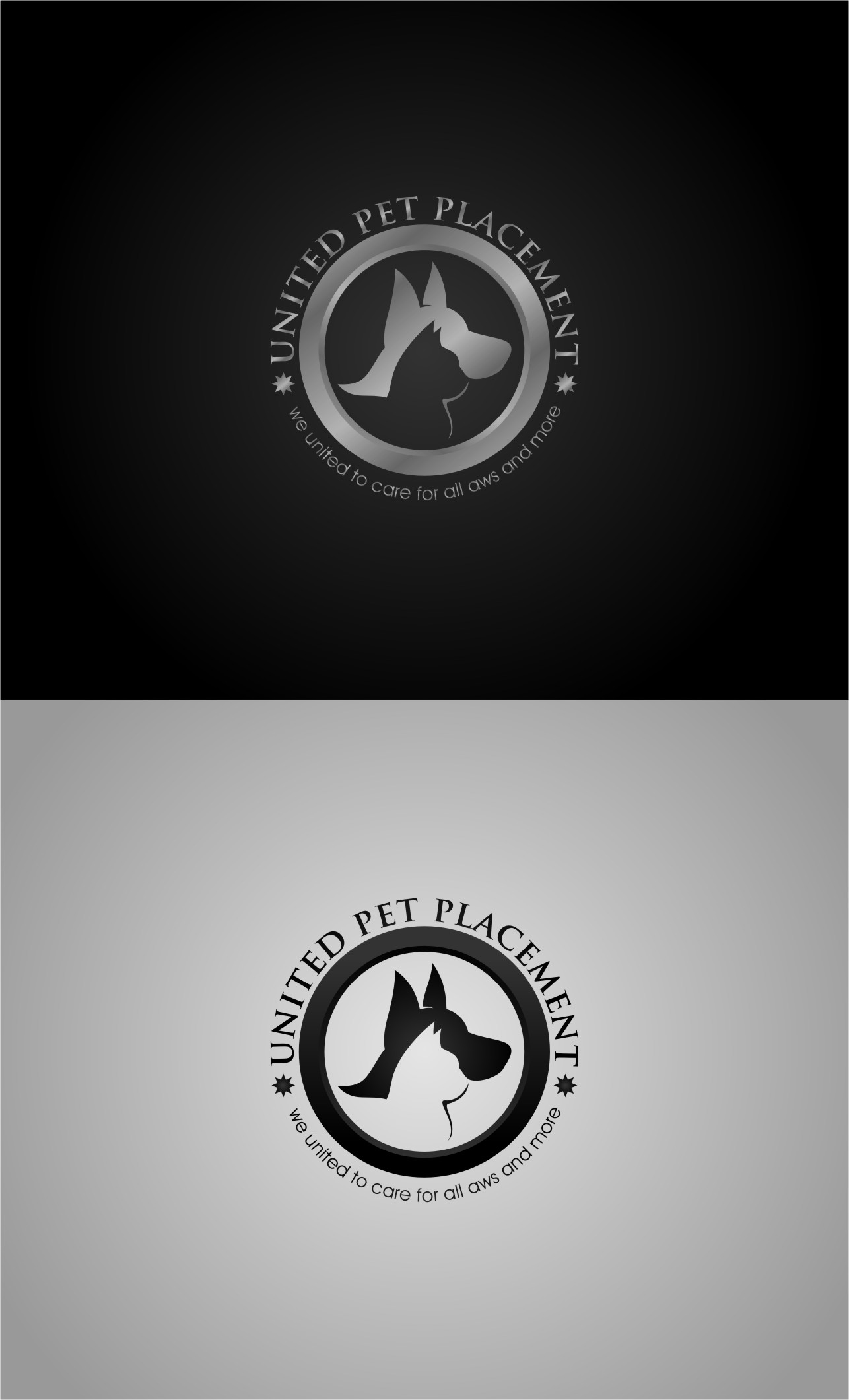 Logo Design by RasYa Muhammad Athaya - Entry No. 71 in the Logo Design Contest Artistic Logo Design for united pet placement.