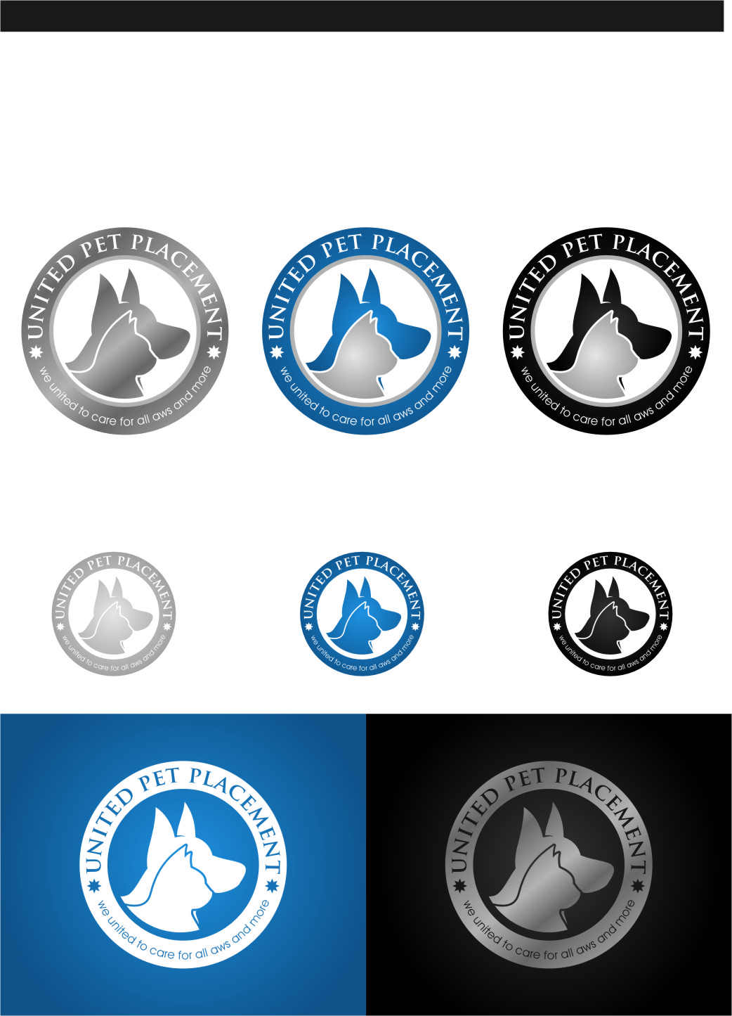 Logo Design by Ngepet_art - Entry No. 73 in the Logo Design Contest Artistic Logo Design for united pet placement.