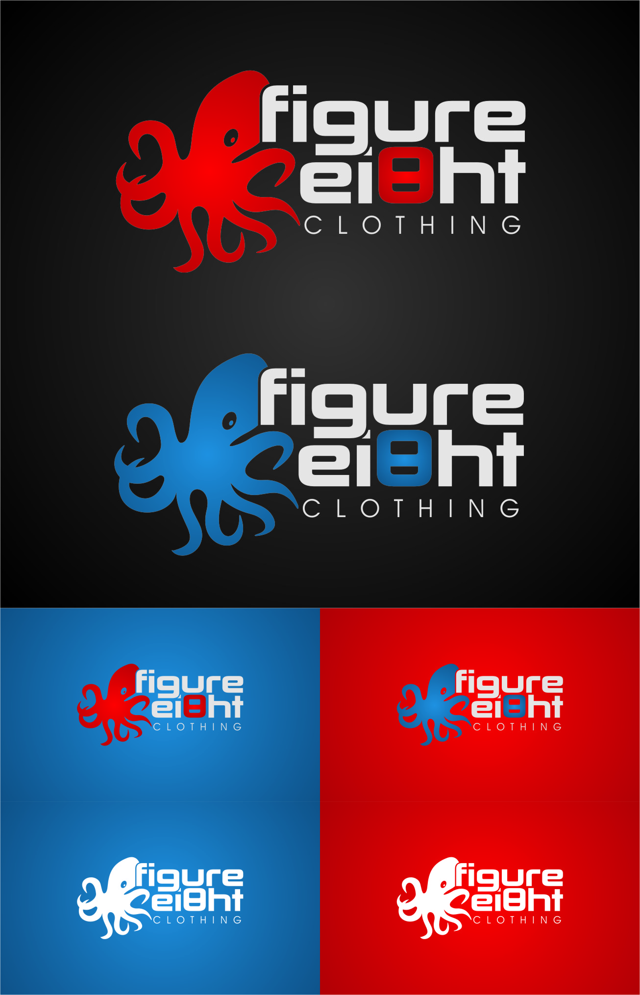 Logo Design by RasYa Muhammad Athaya - Entry No. 133 in the Logo Design Contest Artistic Logo Design for Figure Eight Clothing.