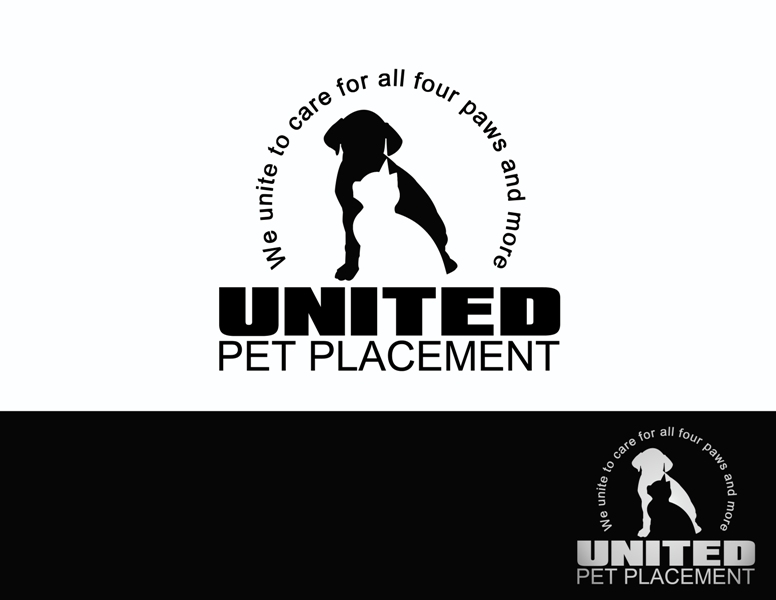 Logo Design by Juan_Kata - Entry No. 77 in the Logo Design Contest Artistic Logo Design for united pet placement.