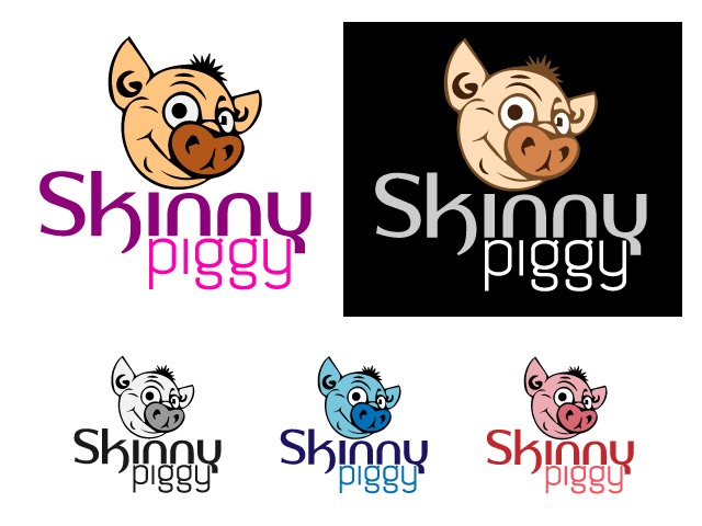 Logo Design by ronik.web - Entry No. 18 in the Logo Design Contest Fun Logo Design for Skinny Piggy.