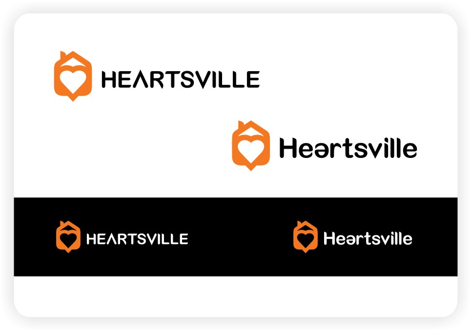 Logo Design by untung - Entry No. 48 in the Logo Design Contest Unique Logo Design Wanted for Heartsville.