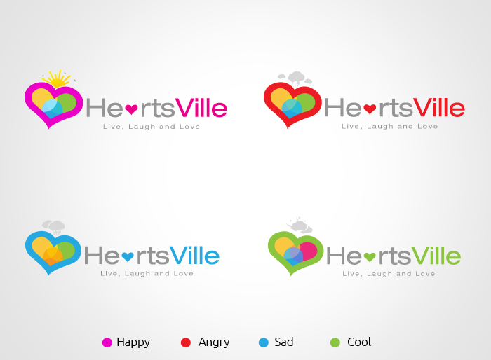 Logo Design by Jan Chua - Entry No. 49 in the Logo Design Contest Unique Logo Design Wanted for Heartsville.