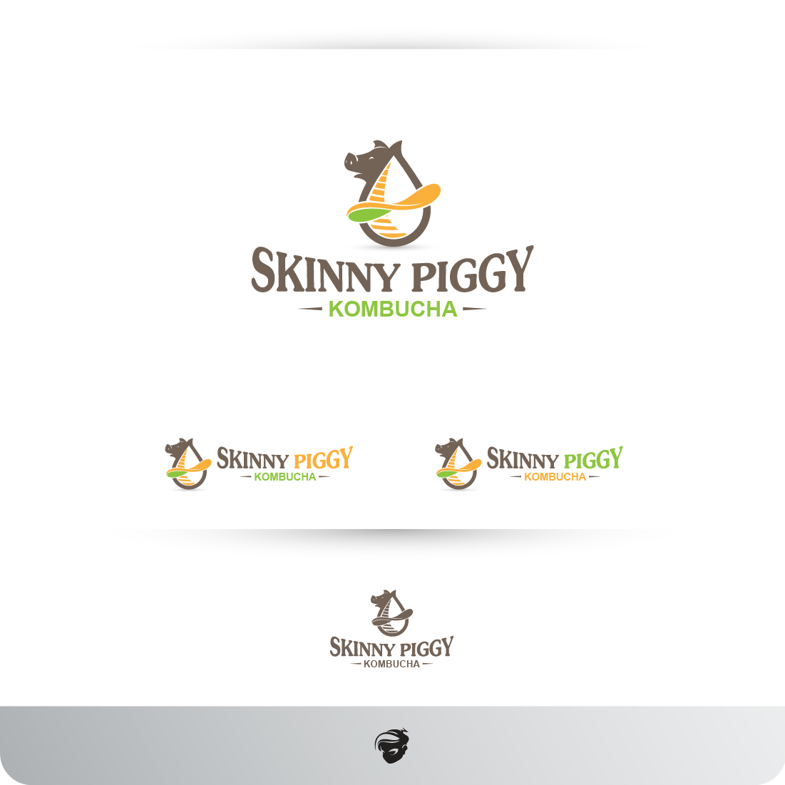 Logo Design by zesthar - Entry No. 23 in the Logo Design Contest Fun Logo Design for Skinny Piggy.