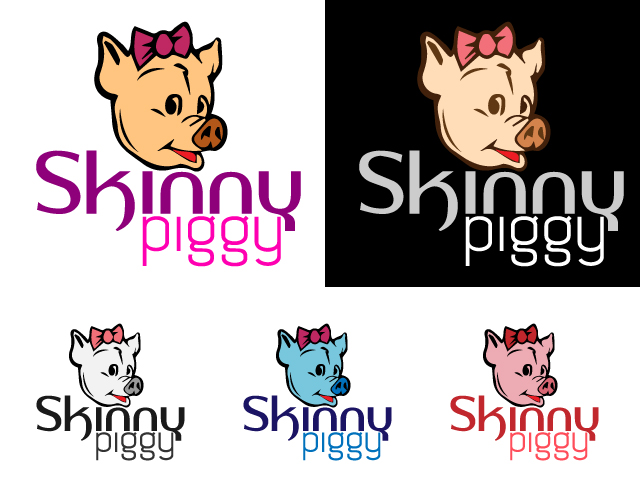 Logo Design by ronik.web - Entry No. 26 in the Logo Design Contest Fun Logo Design for Skinny Piggy.