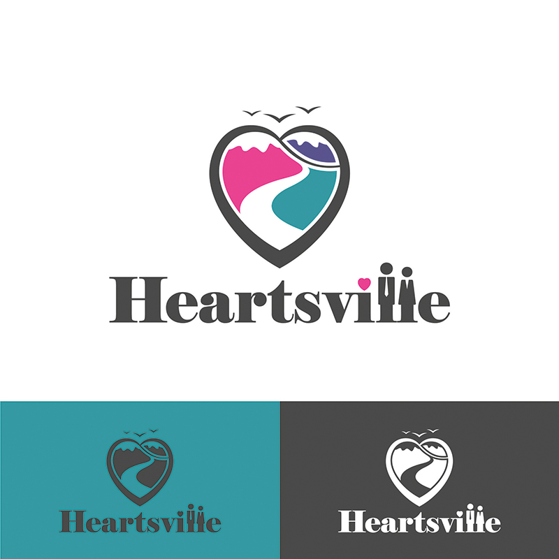 Logo Design by OrdinaryMadness - Entry No. 63 in the Logo Design Contest Unique Logo Design Wanted for Heartsville.